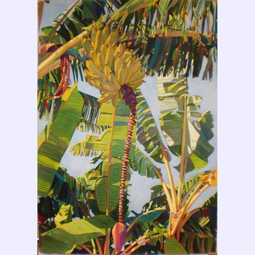 'Yellow Bananas' watercolor by Fabienne Blanc, Giclée Print, custom sizes