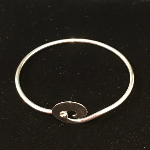 Maui Wave Sterling Silver Bracelet - Large Medium or Small by Carl Grundy $160