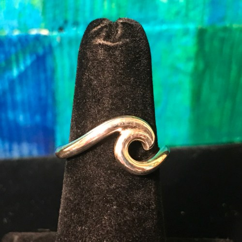 Maui Wave Sterling Silver Wave Ring - Variable Sizes by Carl Grundy $80