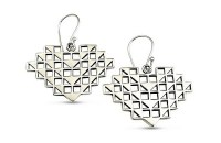 """Palapalai Earrings by Sonny Ching and Paradisus, Sterling Silver 1.18""""W x 0.79""""H $100"""