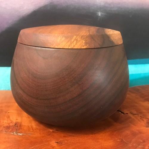 "Lidded Koa Umeke 4.5""H x 6""D by Gordon Tang $550"