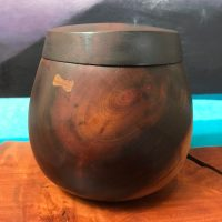 "Lidded Milo Umeke with Pewa 4.5""H x 4.25""D by Gordon Tang $325"