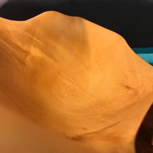 Tropical Ash Carved Form 8Hx10Lx8.5W by Derek Bencomo $1495