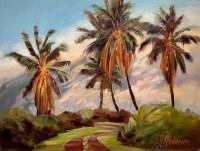 "'Sundown Palms' Original Oil Painting 18""x 22.5"" framed by Susie Anderson $1300"