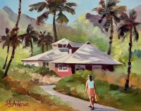 """'Waimanalo Gems' Original Oil Painting 17.5""""x 20.5"""" framed by Susie Anderson $1100"""