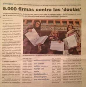 5000 firmas contra las doulas