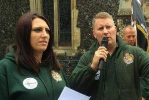 Jayda Fransen and Paul Golding
