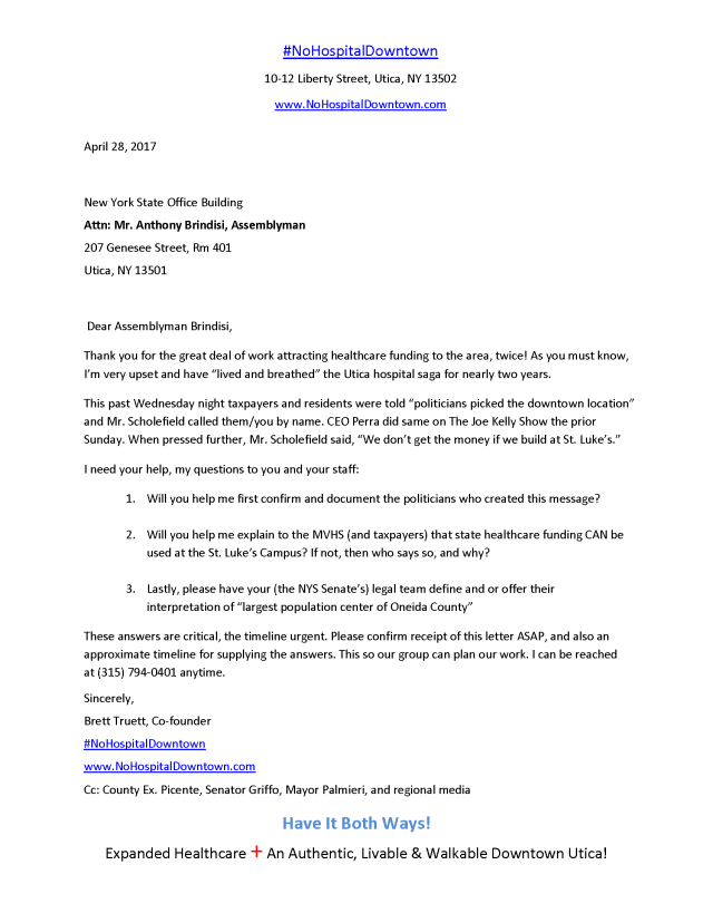 Sample Letter To Senator About Health Care 12