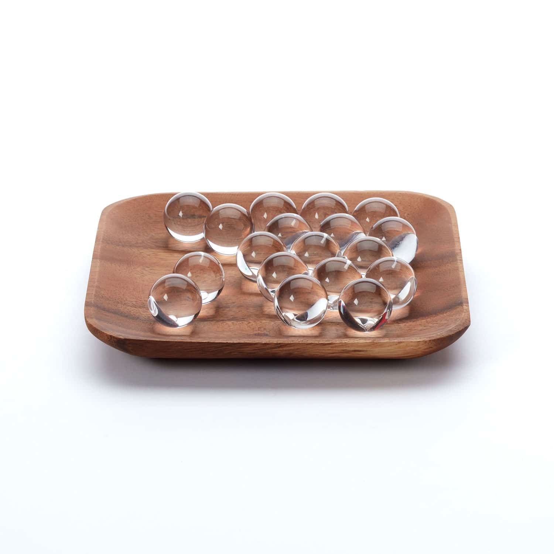 Glass Balls Set Of 18 Clear
