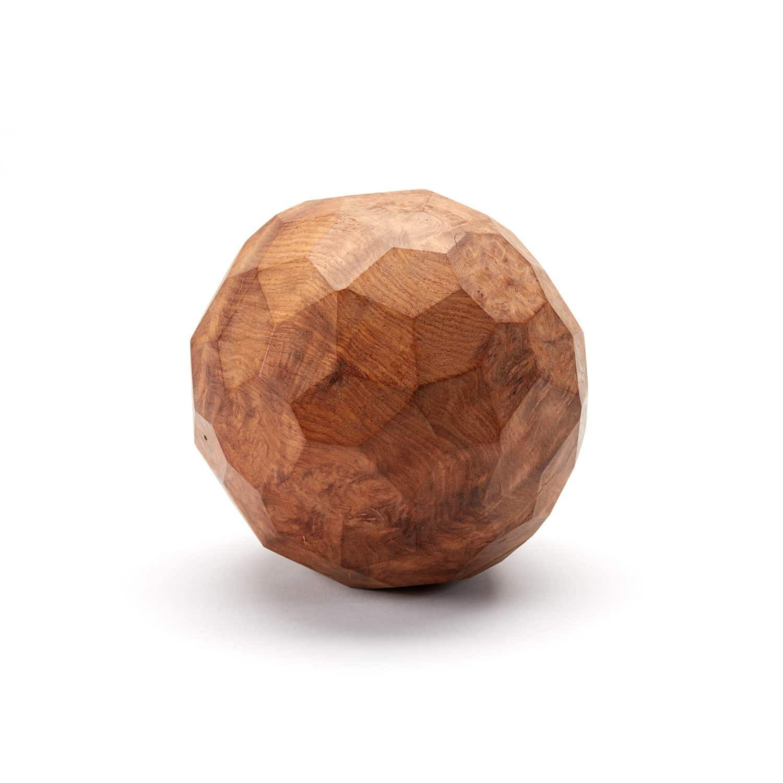 Burl Wood Sphere Sculpture