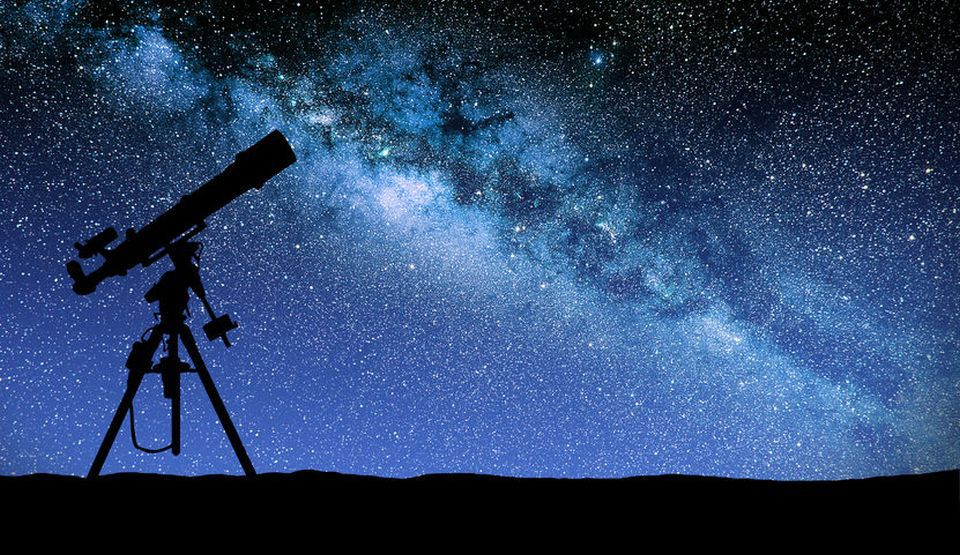 30577768 - illustration of a telescope watching the wilky way