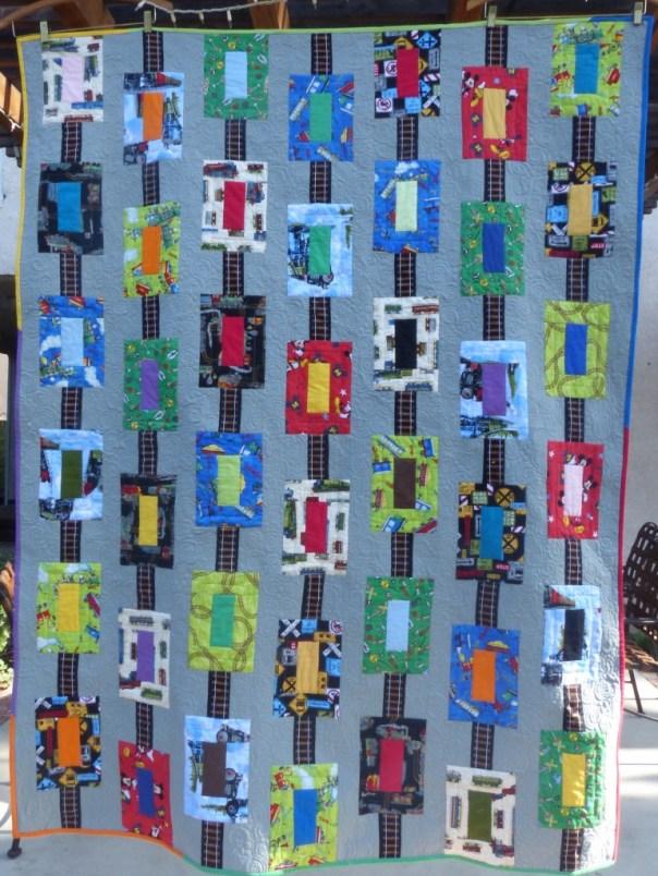 Box-cars on the Rails