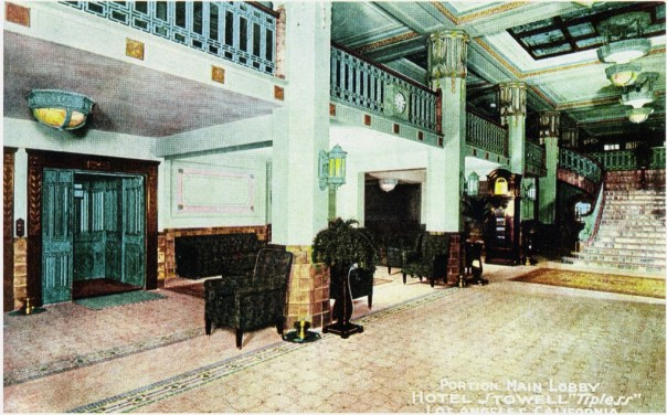 Scan of old lobby in Stowell