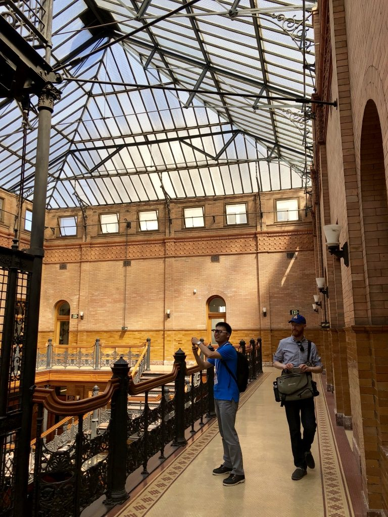 A rare treat, being on the top floor of The Bradbury building