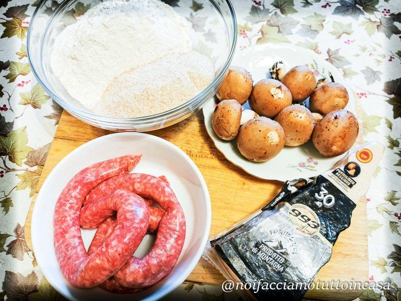 Focaccia-rustica-con-farina-integrale-salsiccia-champignon-e-grana-stagionato