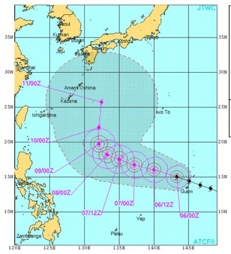 米軍台風19号