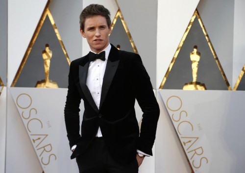 """Eddie Redmayne, nominated for Best Actor for his role in """"The Danish Girl,"""" arrives. REUTERS/Lucy Nicholson"""