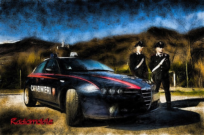 Pattuglia di carabinieri in Trentino. ANSA/UFF STAMPA CARABINIERI +++NO SALES, EDITORIAL USE ONLY+++