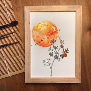Aquarelle mithra mlam noiram marion-lorraine poncet planète plante
