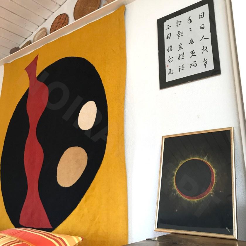 Aquarelle papier noir Eclipse mlam noiram marion-lorraine poncet Jean Arp