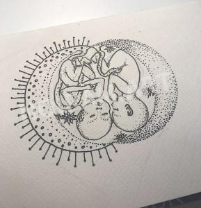 Croquis noiram mlam poncet jumeaux lune soleil