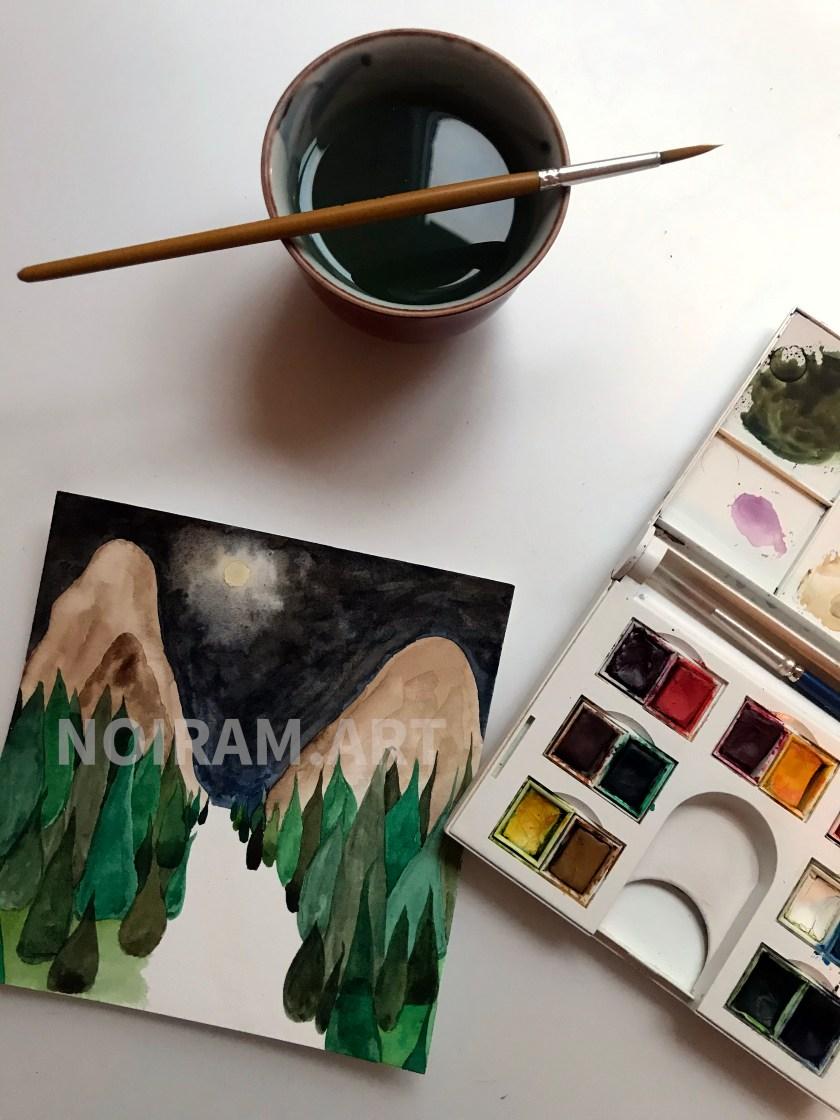 Inner place noiram mlam poncet aquarelle pinceau