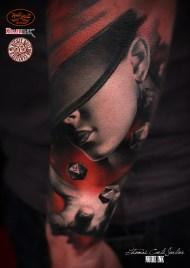 New Fashio portrait tattoo