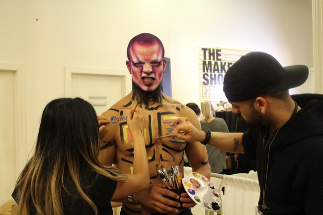 the makeup show nyc in flux body painting