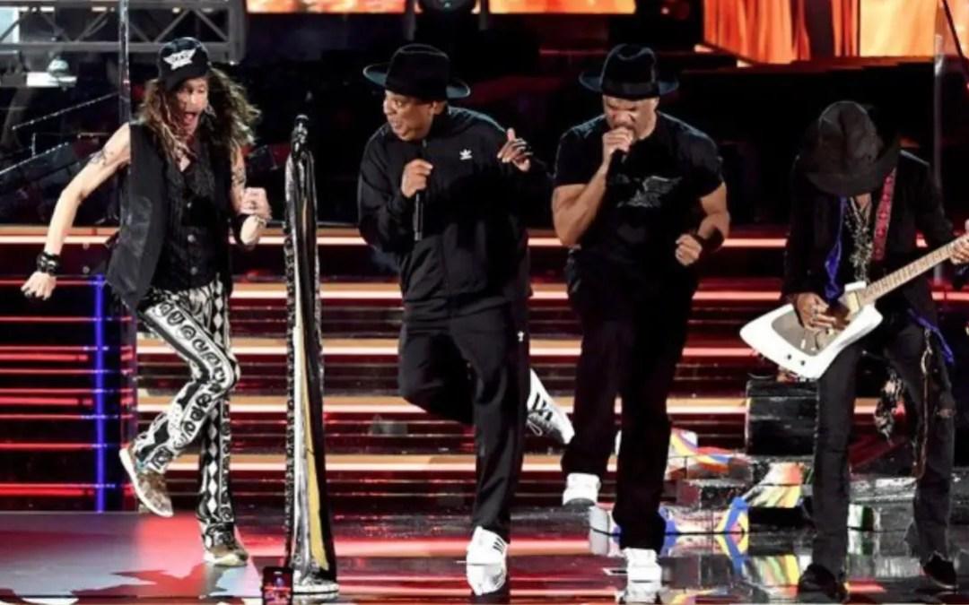 Aerosmith & Run DMC Perform Walk This Way At The 2020 Grammys