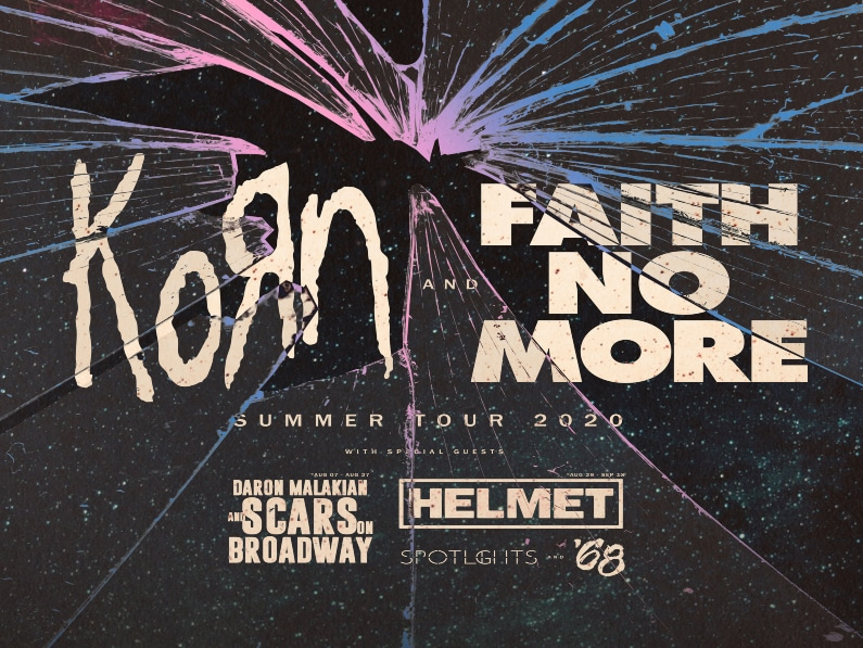 Faith No More,Korn,live nation,live nation entertainment,daron malakian and scars,