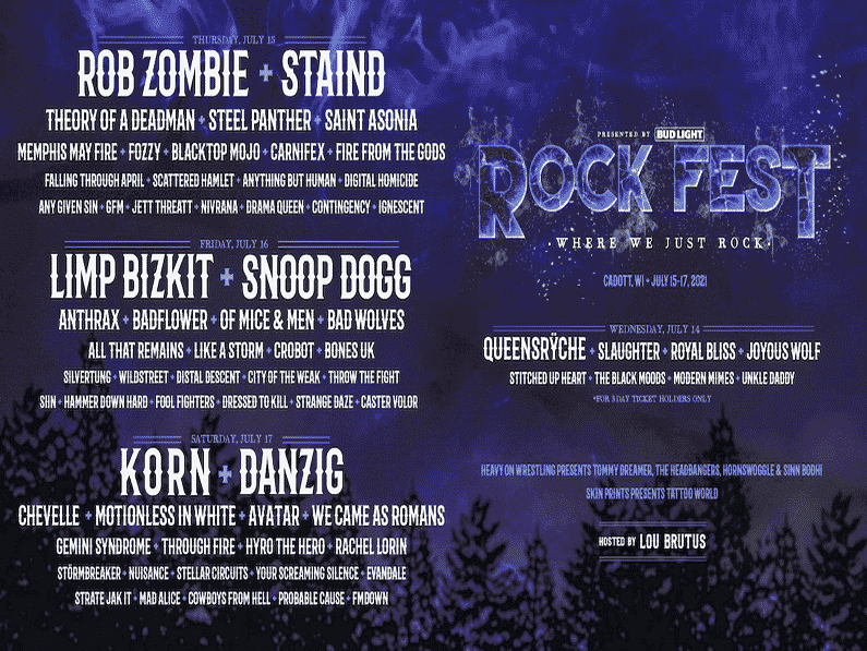 Rob Zombie, Korn, Staind, and More Announced for Rock Fest