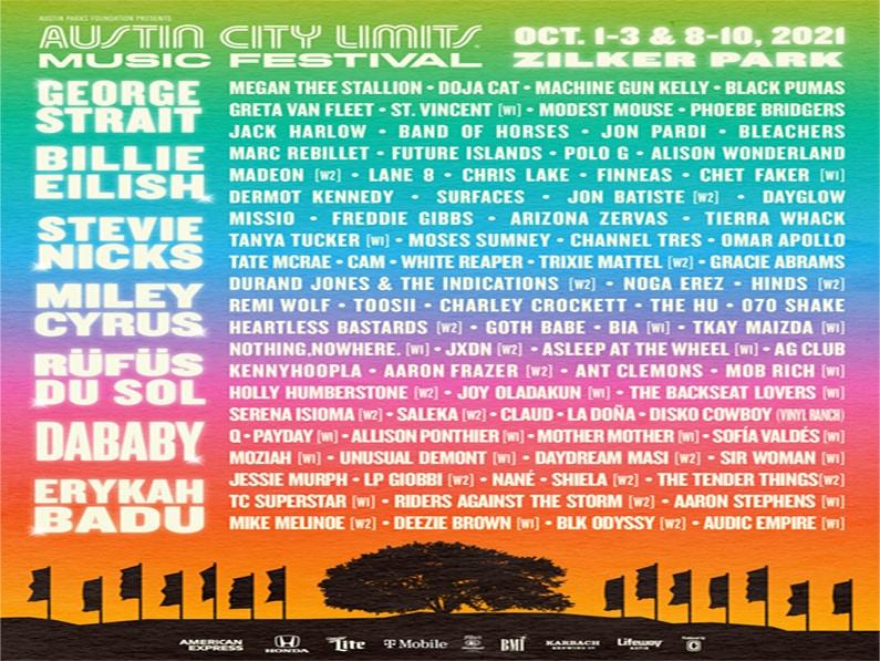 AUSTIN CITY LIMITS MUSIC FESTIVAL ANNOUNCES 2021 LINEUP