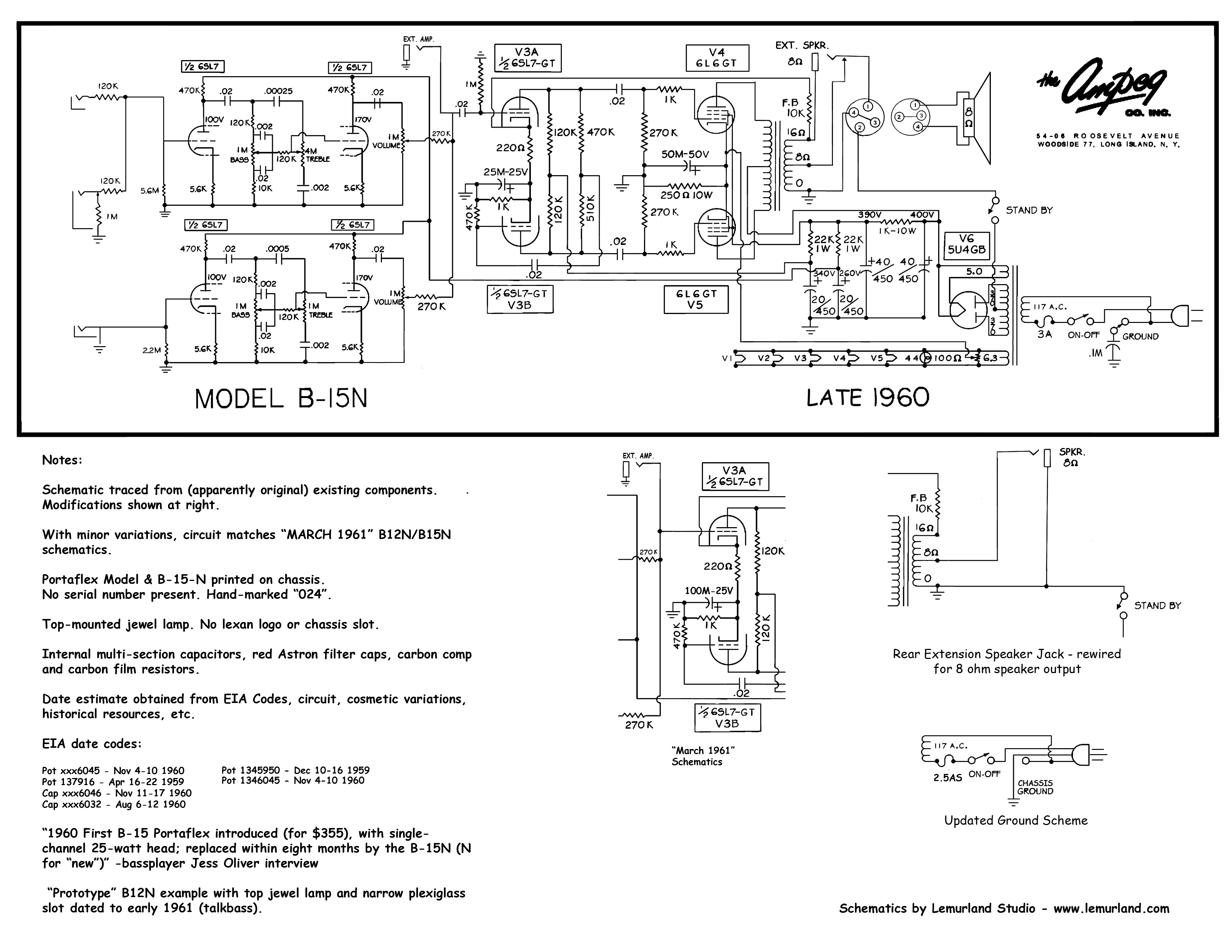 Late Ampeg B 15n Schematics And Pics