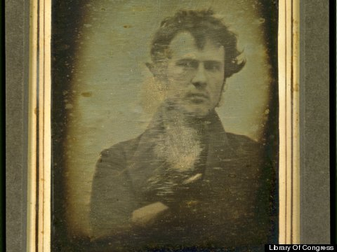 Possibly the first selfie, by and of Robert Cornelius in 1839