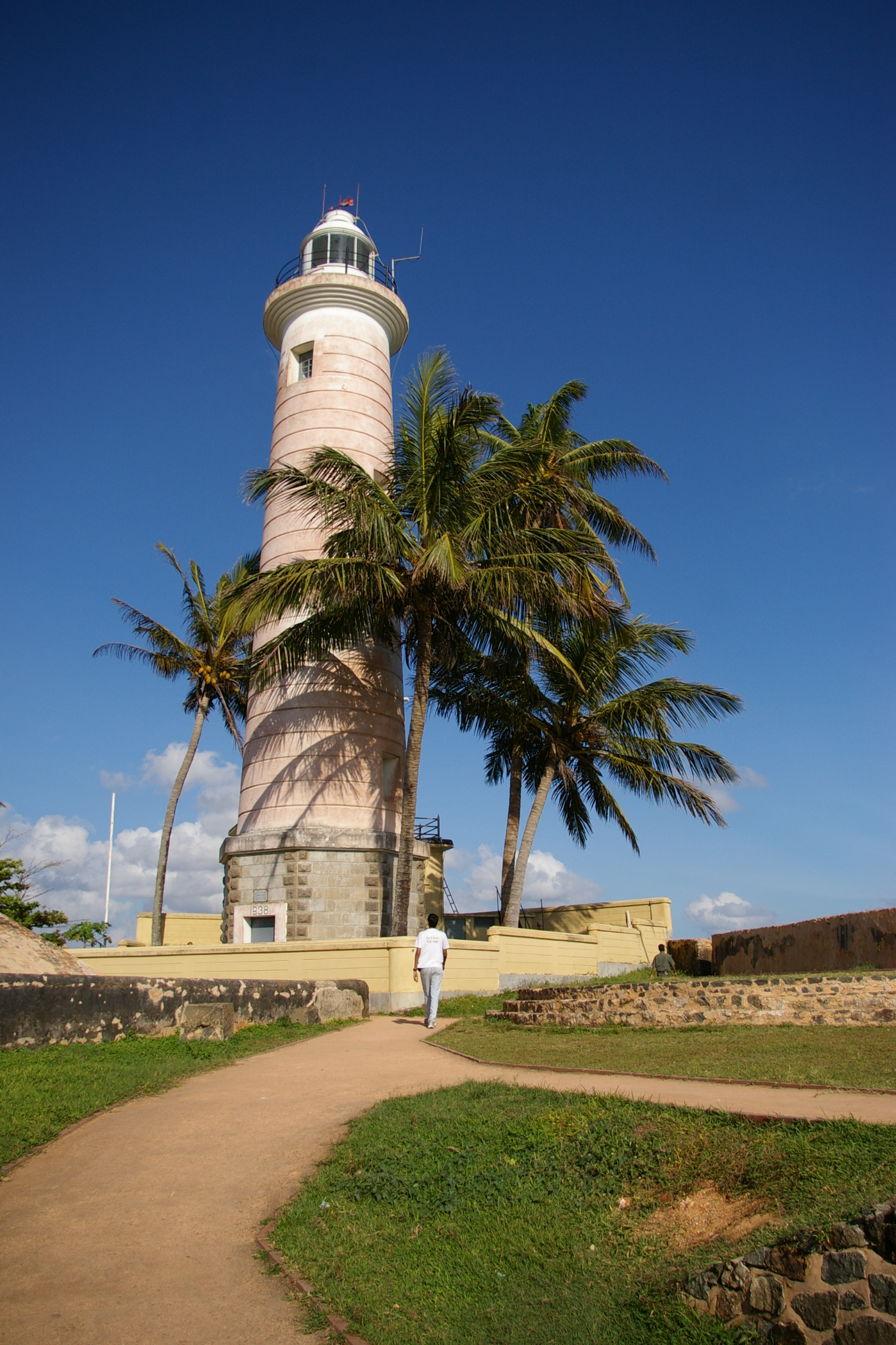 Light house at the 17th century dutch fort at Galle in south west SriLanka. As the point where ships rounded the Sri Lankan landmass, Galle was a strategic point to hold, to control the shipping lanes. The place is picturesque.