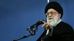 Iran's Supreme Leader Ayatollah Ali Khamenei delivers a speech in Tehran (photo credit: AP/Office of the Iranian Supreme Leader/File)