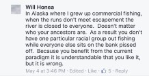honea comment in alaska where i grew up