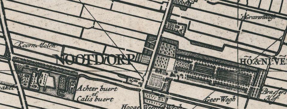 Detail van kaartblad 14 met daarop de Brassershof.