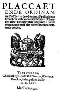 Plakkaat uit 1571