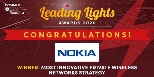 Image : Nokia for Industries honoured with Leading Lights Awards 2020