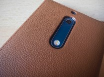 Nokia 5 mozo case brown leather camera
