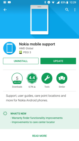 Nokia Support update 8_5_18