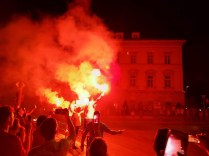 Croatia split celebration
