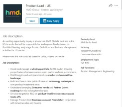 HMD Global Product Lead
