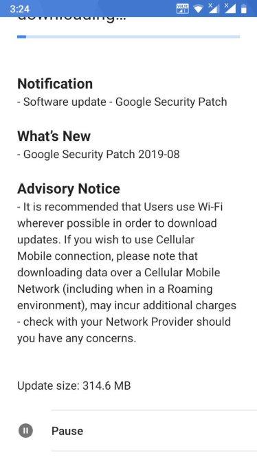 Nokia 5 security update august