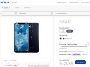 8.1 price Nokia