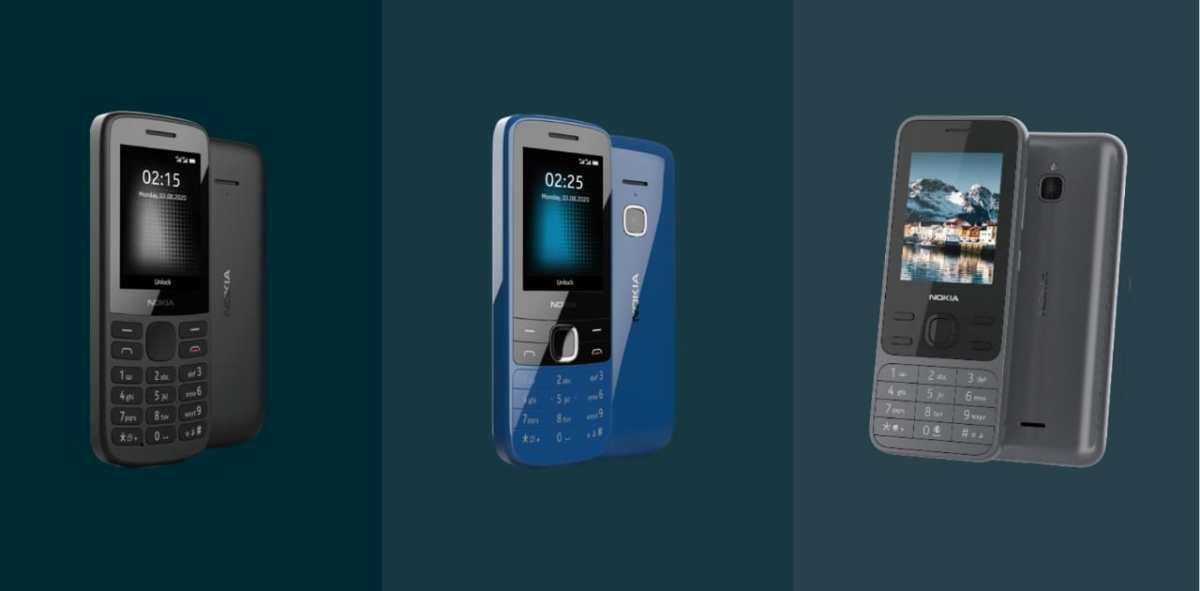 Press images of 4G Nokia feature phones Nokia 215 (2020), Nokia 225 (2020) and Nokia Leo leak | Nokiamob