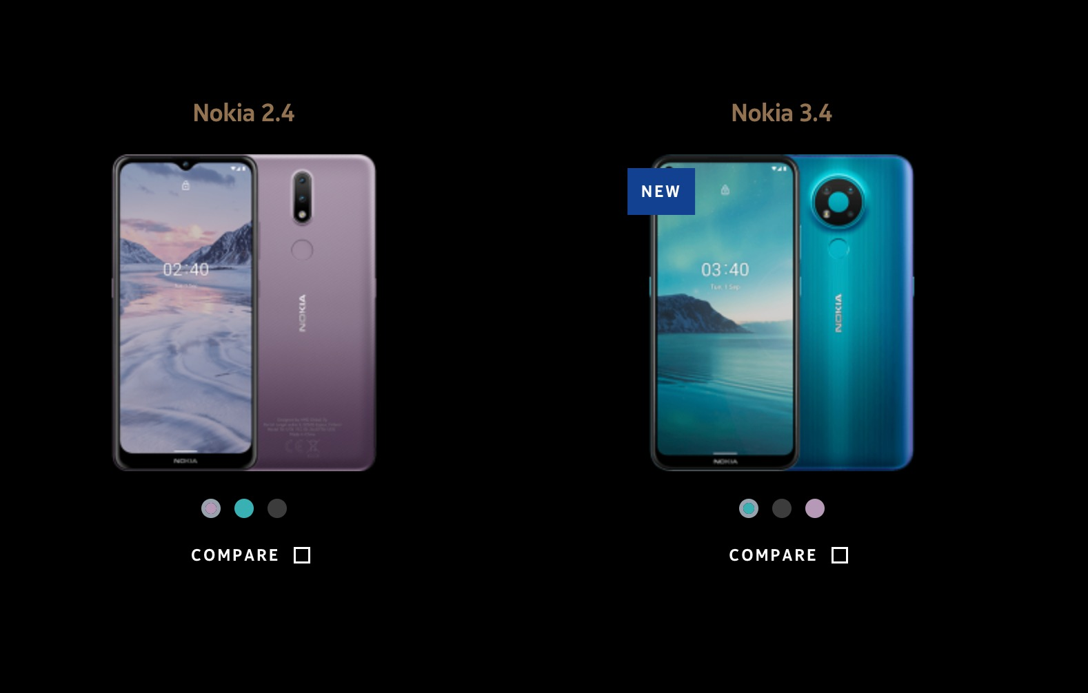 Nokia 2.4 and 3.4 appear on Nokia Mobile India website | Nokiamob