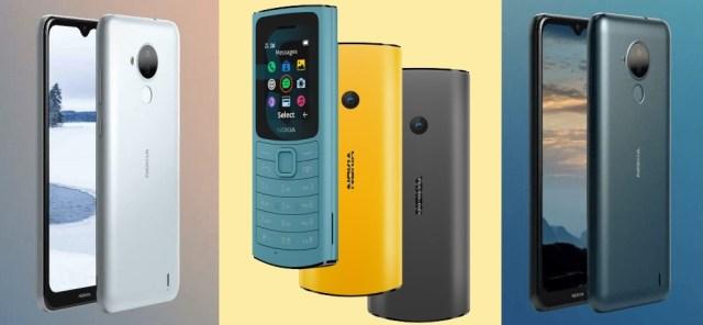 Nokia C30 and Nokia 110 4G