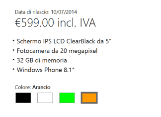 Lumia 930 release date Italy